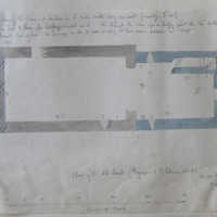 Plan of the old church at Foyran. (St Edans Church). [scaled plan]. Co. Westmeath. Sheet 1/4. N of Castlepollard. June 1864