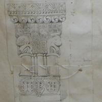 S side of base of inner order Choir Arch