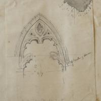 Choir in Mellifont [recte Chapter House] [window]