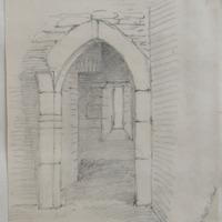 Inner doorway to basement floor of Newcastle Co. W Meath, Sheet 3/1. near Castlepollard