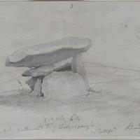 Cromlech northern end Td of Ballynagurgh Co. Waterford. Sheet 25/2. Sept 1863