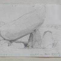 "cromlech in View Mount  Co. Carlow; looking N.; 21"" June 1848"