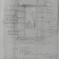 Interior, nave of old church of Agharra Co. Longford. Sheet 24/3 near ?Legan.