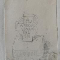 Calvary cross. On road side near Temple fanurn Co. W Meath. Sheet 3/4