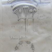 Interior pilaster Capital baptistry