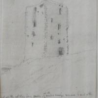 Old castle of Morning Co. Longford. Sheet 23/1 near Carrickboy. 11 July 1864
