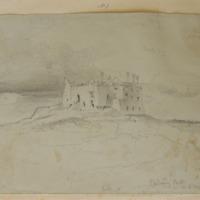 Carbury Castle in Co. Meath [sic]. Looking N. July 1859
