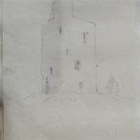 Tower Moylagh old church. near Loughcrew. Oct 64