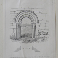 Plate I.; Doorway from the old Church on the White Island, Lough Erne, Co. Fermanagh