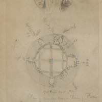 Plan of Circular Room in Tower of Ferns Castle Co. Wexford. July 1862. 17ft 3 in inner diameter of tower.
