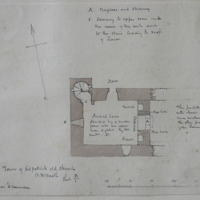 Tower of Kilpatrick old church Co. W Meath. Sheet 13/1.  near Drumcree [scaled annotated plan]
