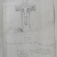 From the graveyard of St. Mary's Church, Fore Co. W Meath. [cross] 4 May 1864