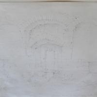 Interior of window of Ballindorrey Castle Co. Tipperary. Sept 1840