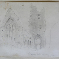 Duleek Abbey looking W. July 1866