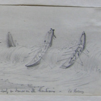 Canoes landing in the surf on Smerwick Harbour Co. Kerry