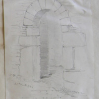 Doorway to Chancel. S. Wall Ardcath Old Church Co. Meath. May 1866