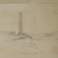 Maiden's Finger and Tower looking N. (The Maiden Tower Boyne Mouth)