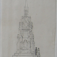 Clock tower in memory of Sir G. Fetherston erected by Lady Fetherston at Ardagh Co. Longford. Sheet 14/2