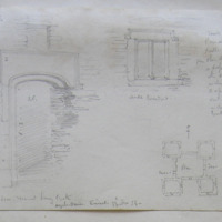 Door Mount Long Castle, Oysterhaven, Kinsale. 13th Nov 54. small windows. Plan.
