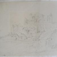 Ruins on the Rock of Cashel. Geo. V Du Noyer. Oct 1st 1840