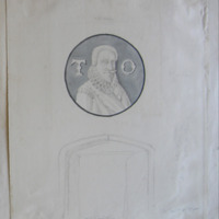 Oil painting. Portrait of Thomas Earl of Ormond. 1565 Hall of Carrick on Suir Castle. 30 Oct 1850