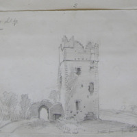 Boley Castle. From the Moat. Looking West. August 1862. Co. Wexford Sheet 40/1 West of Clonglen