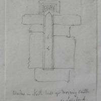 Window in north wall of Morning Castle Co. Longford. Sheet 23/1