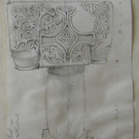 Ancient font in Killaloe Cathedral. August 1866