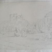 The Rock of Cashel from Rock Abbey. Oct 27 1840