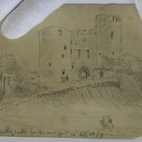 Keep of Dudley Castle from the outer yard 14 September 1857