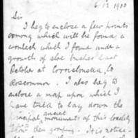 Letter from Sergeant Patrick Lyons to H.T. Knox, December 12, 1900