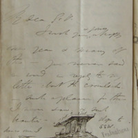 Letter from F. I. Foot to Du Noyer January 1862. [includes sketch of Poulnabrone]