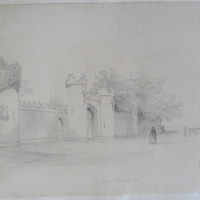 Entrance to Parsonstown Castle Oct 15 1846