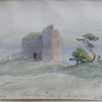Tower of Kilpatrick old church Co. W Meath looking SSE. Sheet 13/1. 18 May 1864. near Drumcree