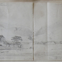 June 4th 1855; Lake of Killarney from Lake Hotel; Castle Island; Torc Waterfall; Friars Island
