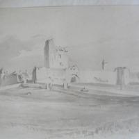 The Castle of Moycarky. Nov 26 1840. Co. Tipperary. Geo. V Du Noyer