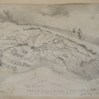 W end of large quarry on the N face of Castle Carbury Hill, Co. Kildare. G.V Du N. July 29 1859