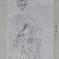 Top of the crook of 13th century effigy of Bishop in Ferns Cathedral
