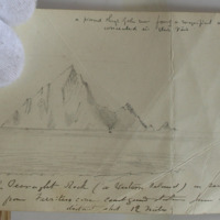 View of the Teeraght Rock (or Westons Island)… Ferriter's Cove coastguard station June 1856. distance about 12 miles