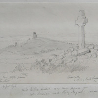 Cross over the Minister's Grave. Co. Meath Sheet 8/1.