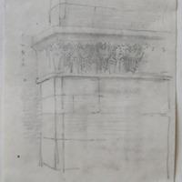 Pillaster S side aisle Jerpoint abbey Co. Kilkenny Apr 64