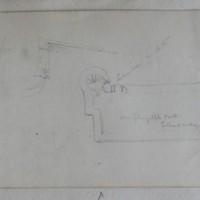 Plan. Dungulph Castle, Fethard Co. Wexford [ plan, door label]