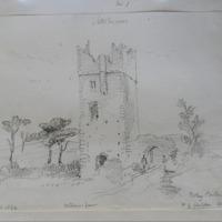 Boley Castle N of Clonglen Co. Wexford. Sheet 41/1. August 1862. exterior bawn. A little too ?narrow