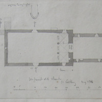 Jerpoint old church Co. Kilkenny. May 1864. [scaled annotated plan]