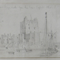 Carrickfergus Castle, from the Pier (April-1840-?)