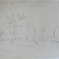 King Corr Castle near Clonmel on the Suir. Co. Waterford. Signed. Oct 18 1840 [Kincorr]