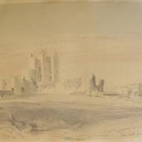 Trim Castle from the Dublin Road. Geo V Du Noyer. Dec 29 1843