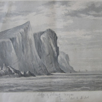 cliffs of Island Magee, from a sketch by Nichol
