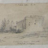 St. Catherine's Chapel Ballyhack Co. Wexford. West Gable. Geo: V DuNoyer 1860