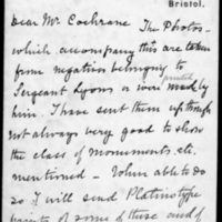 Letter from H. T. Knox to Robert Cochrane? June 12, 1905